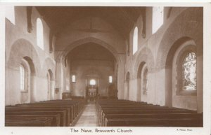 Northamptonshire Postcard - The Nave - Brixworth Church - Ref 2267A