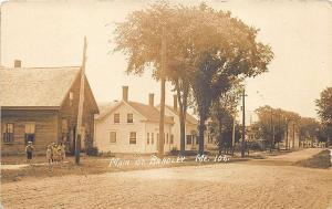 Bradley ME Dirt Street Houses Children in 1914 RPPC Postcard