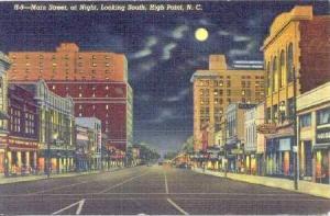 Main Street, at Night, Looking South, High Point, North Carolina, 00-10