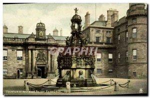 Old Postcard Edinburgh Fountain at Holyrood Palace