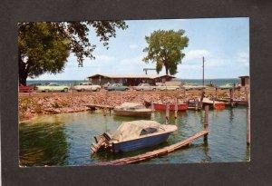 NY Ferry Terminal Lake Champlain Yacht Boats Basin Port Kent New York Postcard