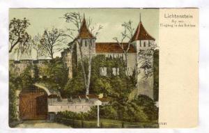 Lichtenstein 817 mtr. , Eingang in das Schloss, 1890s