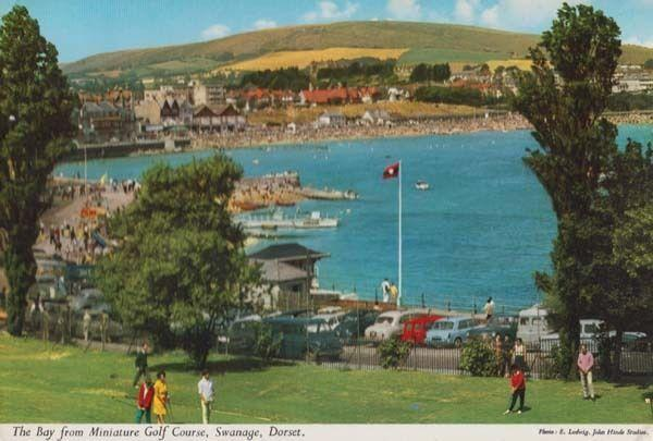 Swanage Miniature Golf Course Dorset Bournemouth 1960s Postcard
