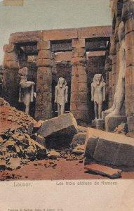 EGYPT , 00-10s ; LOUXOR ; Les trois status de Ramses