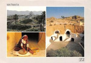 Tunisia Matmata Ancient Houses Woman General view
