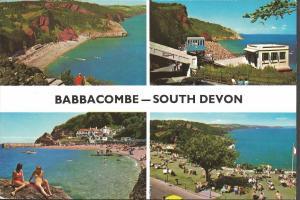 Vintage Postcard Multiview c1975 BABBACOMBE Devon by John Hinde Ltd 3DC411