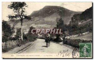 Le Mont Dore - Puy Gros - horse - horse - Old Postcard