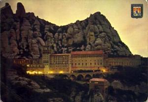 POSTAL 57370: Montserrat El Santuario al atardecer