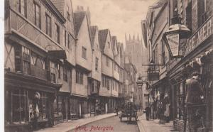 PETERGATE, YORK, Yorkshire, England, UK, 1900-1910s; Busy Street View