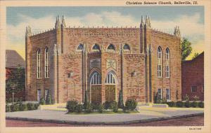 Front view,  Christian Science Church,  Belleville,   Illinois,  30-40s