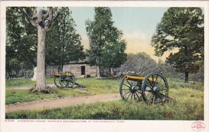 Snodgrass House, Cannon, Thomas's Headquarters At CHICKAMAUGA, Tennessee, 1902