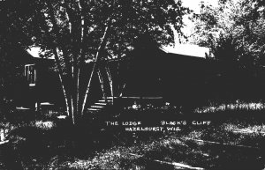 Wisconsin Hazelhurst Black's Cliff Resort The Lodge Real Photo