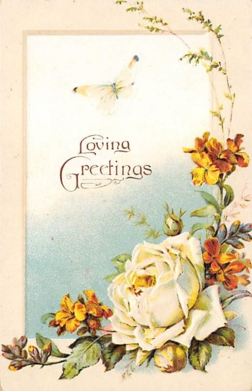 Loving Greetings Postcard unused