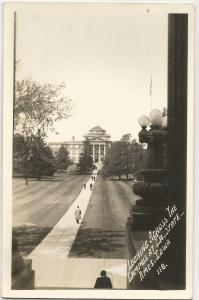 POST CARD,  LOOKING ACROSS THE CAMPUS,  IOWA STATE COLLEGE,  AMES, IOWA