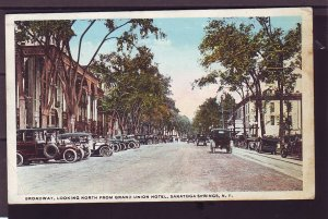 P1472 1911 used postcard view many old cars saratoga springs new york