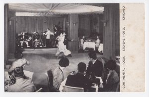 Stevens Hotel Chicago IL - Continental Room Undated Litho Postcard