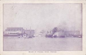 Illinois Chicago Mouth Of Chicago River 1909