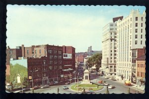 Portland, Maine/ME Postcard, Monument Square, Old Cars, 1960's?