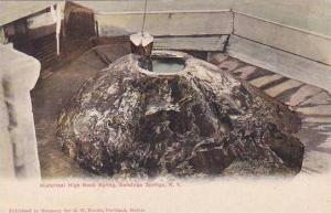 New York Saratoga Springs Historical High Rock Spring