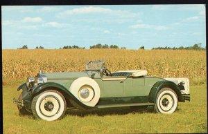 Classic Car Postcard 1928 PACKARD 443 Runabout - Chrome