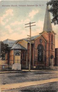E3/ Hancock New York NY Postcard 1909 Methodist Church Delaware County