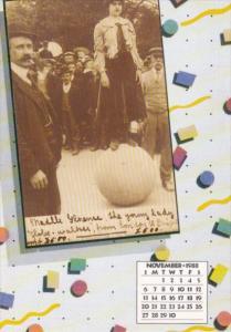 Amazing Feats Calendar Card November Madelline Florence Young Lady Globewalker