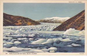 Alaska Taku Glacier On Taku Inlet 1938 Curteich