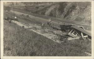 Panama Canal Construction c1910 Real Photo Postcard #23 COLLAPSED BUILDING