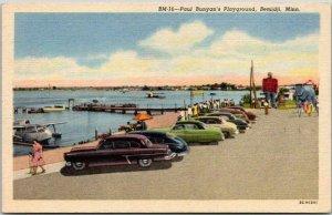 BEMIDJI, Minnesota Postcard Paul Bunyan's Playground Lake View Linen c1940s