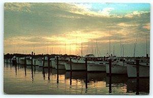 Postcard DE Rehoboth Beach Sunset at Indian River Yacht Basin D10