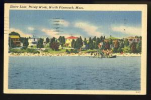 North Plymouth, Mass/MA Postcard, Rocky Nook Shore Line
