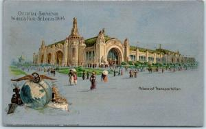 1904 St. Louis World's Fair Official Postcard Palace of Transportation UNUSED