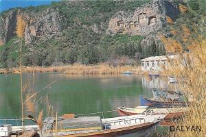Turkey A view from Dalyan Lake Boats Bateaux Lac