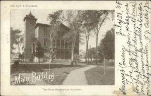 East Greenwich RI Main Bldg of Academy c1910 Postcard