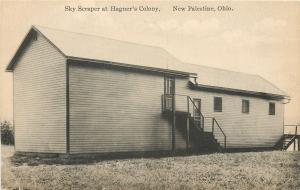 New Palestine Ohio~Sky Scraper Hagner's Colony~Steps~1914 Kraemer Art Postcard