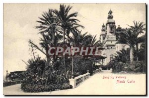 Old Postcard Monte Carlo in the Palms