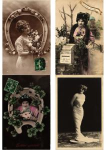 GLAMOUR LADIES FEMMES Lot of 600 CPA Vintage Real Photo Postcards (PART I.)