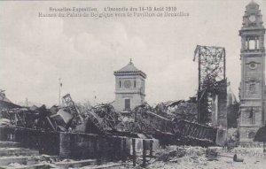 Belgium Brussels Expo 1910 Ruines du Palais de Belgique vers le Pavillon di B...