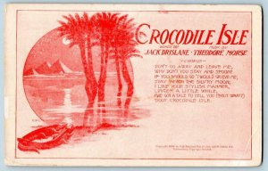 1906 CROCODILE ISLE PYRAMIDS PALM TREES WORDS BYDRISLANE MUSIC BY MORSE EGYPTIAN