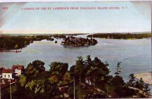 NY St Lawrence River From Thousand Island House Vintage ca 1910 Postcard