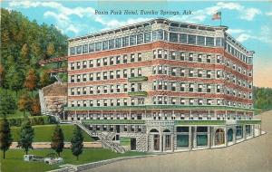 Eureka Springs Arkansas~Nice Architecture~Basin Park Hotel~1940 Postcard