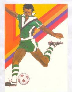 1983 Soccer Postcard USPS, PU-1983 17 Jun, First day of issue for soccer stamp