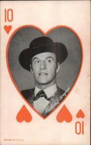 Cowboy Actor Poker Playing Card Exhibit Arcade Richard Coogan 10 of Hearts