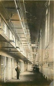 Prison Interior, Guard, RPPC