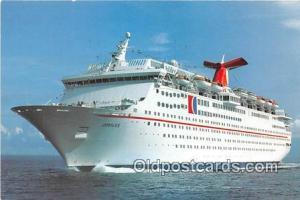 Fun Ship, Jubilee Carnival Cruise Lines Ship Postcard Post Card Carnival Crui...