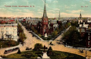 Washington D C Trolleys On Thomas Circle 1913