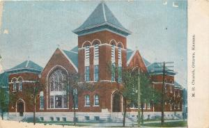 Ottawa Kansas~United Methodist Episcopal Church~Stained Glass Windows~1910