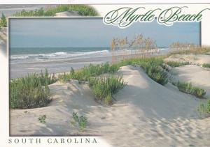 South Carolina Myrtle Beach Greetings Showing Sand Dunes 2001