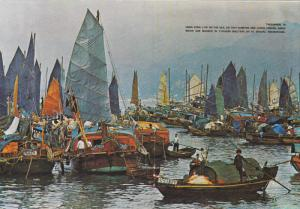 HONG KONG, New Territories, China; Floating People in Castle peak Bay, Sail B...