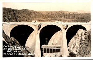 Arizona Coolidge Dam On Highway 70 Between Safford & Globe Real Photo